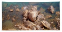 Abstract Rock By The Sea Bath Towel