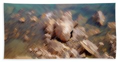 Abstract Rock By The Sea Hand Towel
