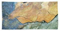 Hand Towel featuring the photograph Abstract Rock by Christina Rollo