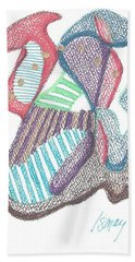 Abstract Hand Towel by Rod Ismay