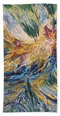Abstract Guam Rooster Hand Towel
