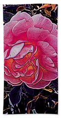 Abstract Rose 11 Hand Towel