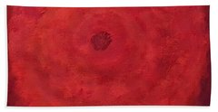 Abstract Rose Hand Towel