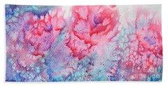 Abstract Roses Bath Towel