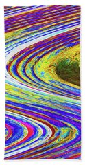 Abstract Saguaro Contour Bath Towel by Tom Janca