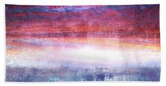 Abstract Seascape Sunset Painting 35a Hand Towel