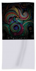 Hand Towel featuring the pastel Abstract by Sheila Mcdonald