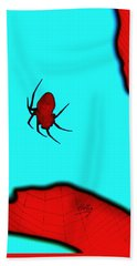 Hand Towel featuring the photograph Abstract Spider by Linda Hollis