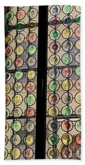 Abstract Stained Glass Bath Towel by Patricia Hofmeester