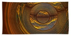Abstract Sunset Hand Towel by Lyle Hatch