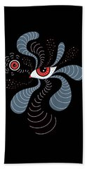 Abstract Surreal Double Red Eye Hand Towel
