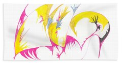 Abstract Swan Bath Towel