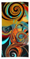Abstract Swirls Hand Towel by Jessica Wright