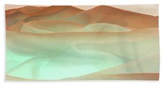 Abstract Terracotta Landscape Hand Towel by Deborah Smith