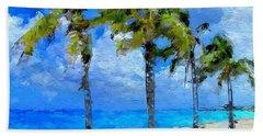 Abstract Tropical Palm Beach Hand Towel