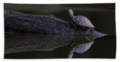 Hand Towel featuring the photograph Abstract Turtle by Douglas Stucky