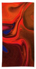 Abstract Union 2 Vertical Fire Hand Towel