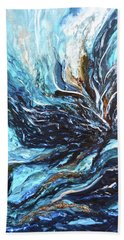 Abstract Water Dragon Hand Towel