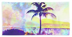 Abstract Watercolor - Beach Sunset I Hand Towel