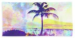 Abstract Watercolor - Beach Sunset I Bath Towel