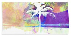 Abstract Watercolor - Beach Sunset II Hand Towel