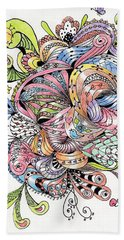 Abstract2colored Hand Towel by Quwatha Valentine