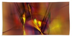 Abstracts Gold And Red 060512 Hand Towel by David Lane