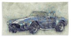 Ac Cobra - Shelby Cobra - 1962s - Automotive Art - Car Posters Bath Towel