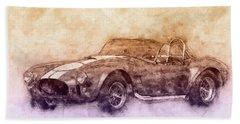 Ac Cobra - Shelby Cobra 2 - 1962s - Automotive Art - Car Posters Bath Towel