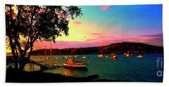Hand Towel featuring the photograph  Acadia Bar Harbor Sunset Cruises by Tom Jelen