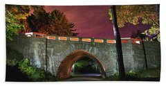 Acadia Carriage Bridge Under The Stars Hand Towel