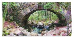 Acadia National Park - Cobblestone Bridge Abstract Bath Towel