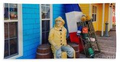 Acadian Fisherman, Prince Edward Island, Canada Bath Towel