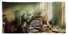 Hand Towel featuring the photograph Accountant - The- Bookkeeping Dept 1902 by Mike Savad