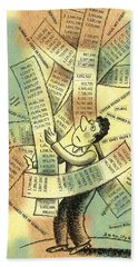 Accounting And Bookkeeping Bath Towel