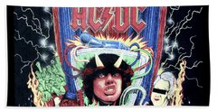 Hand Towel featuring the digital art Acdc by Gina Dsgn