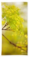 Acer Flowering Twig Detail Bath Towel