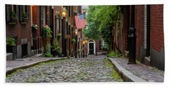 Acorn St. Boston Ma. Bath Towel