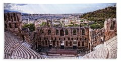 Hand Towel featuring the photograph Acropolis by Linda Constant