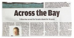 Hand Towel featuring the painting Toronto Sun Article Across The Bay by Kenneth M Kirsch