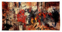 Acrylic Abstraction-an Urban Theme#1 Bath Towel