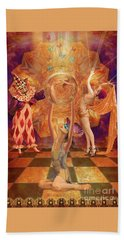 Hand Towel featuring the digital art Act 3 Burlesque Circus Follies by Joseph J Stevens