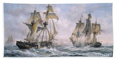 Action Between U.s. Sloop-of-war 'wasp' And H.m. Brig-of-war 'frolic' Bath Towel