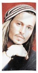 Actor And Musician Johnny Depp Bath Towel
