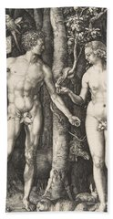 Adam And Eve, 1504  Bath Towel