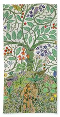 Adam And Eve Design  Bath Towel