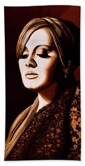Adele Skyfall Gold Hand Towel by Paul Meijering