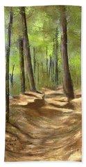 Adirondack Hiking Trails Bath Towel by Judy Filarecki