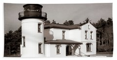 Admiralty Head Lighthouse Vintage Photograph Hand Towel