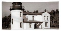 Admiralty Head Lighthouse Vintage Photograph Bath Towel